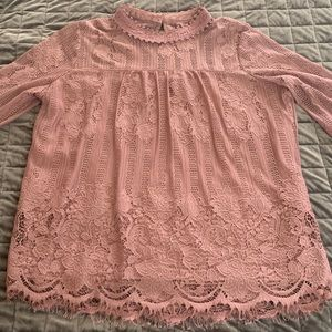 NY&Co Lace Bell Sleeve Top